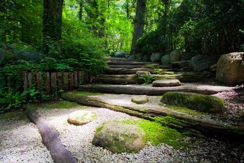 Meditation background - All green