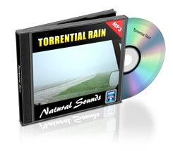 torrential rain nature sounds