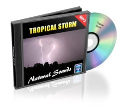tropical storm nature sound