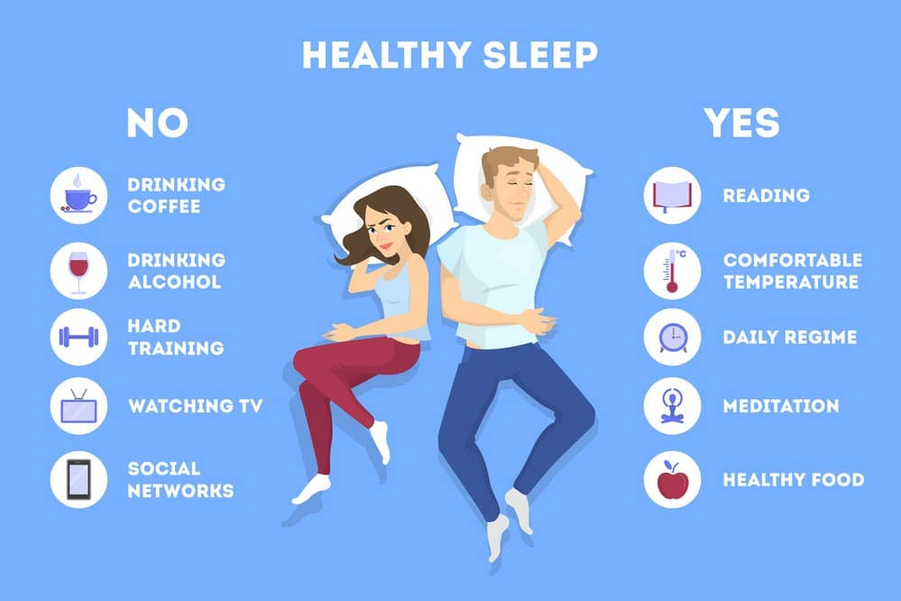 healthy sleep infographic